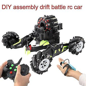 Toy cars diy assembly rc war drift car with bullet control battle car model for kids christmas gift|rc trucks black