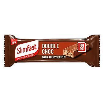 Slimfast Treat Bar Double Chocolate 25g, Pack of 6 Bars