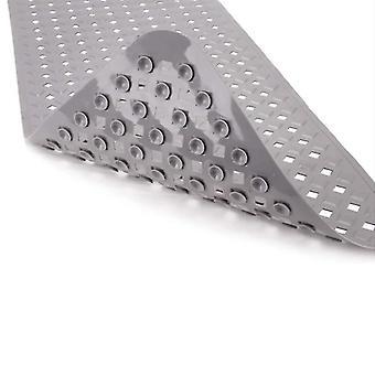 Liukumaton kuplakylpymatto Suihku kylpyammetyyny Laajennettu PVC liukumaton tyyny (88 * 40cm)(harmaa)
