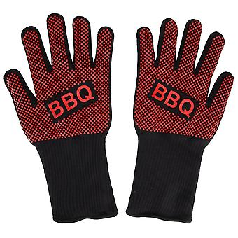 Et par brandsikre kevlar handsker til grill og ovn drift (Redbbq --apair)