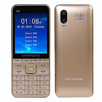 """Gsm 2,8 """"Bildschirm Vier Sim Russische Tastatur Handy Große Taschenlampe Mp3 Kamera Video Player Recorder Original H-Mobile"""