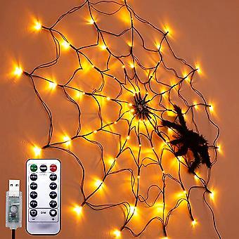 العنكبوت ويب ضوء هالوين شجرة السياج شنقا أدى مصباح مهرجان الديكور ليلة الضوء