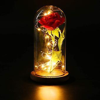 Rose i glass, evig rose i glass