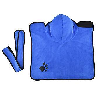 Peignoir pour chien en microfibre - Peignoir absorbant pour chien pour le séchage après la baignade, le bain ou la pluie (xs | Bleu)