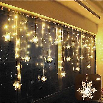 Led וילון אור מחרוזת כוכב 75led 3 * 0.8m מחרוזת אורות חג המולד יום הולדת מרפסת קישוט חלון עמיד למים Ip44
