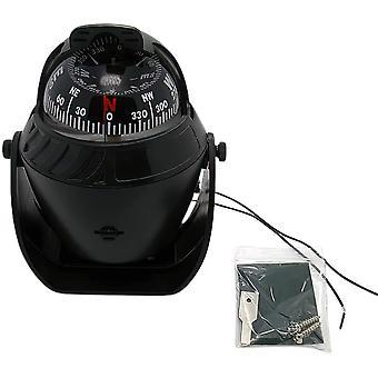 Voiture Compass Ball Accessoires de voiture Mini Compass Compact Ball Compass avec décoration adhésive et délicate