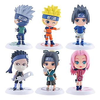18e generatie 6 Naruto Sasuke Poppen Naruto Handgemaakte I Gaara Model Ornamenten Volledige set van striptentoonstelling