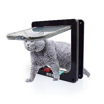 Huisdier Kat en Hond Intelligente controle, eenvoudig te installeren, winddichte ingang (zwart S)