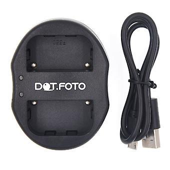 Dot.Foto Sony NP-FM50 Dual USB-paristolaturin