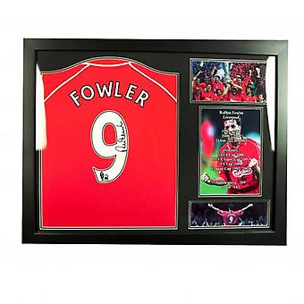 Liverpool Fowler Signed Shirt (Framed)