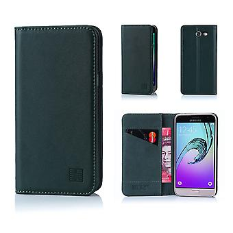 32nd Classic Real Leather Wallet for Samsung Galaxy J3 (2017) J327P - Racing Green