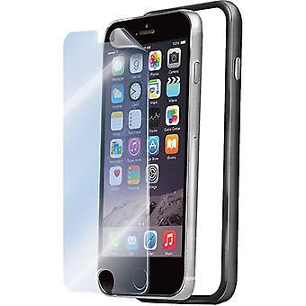 Celly Rubberize randen Bumper case voor iPhone 6 met Screen Protector - zwart