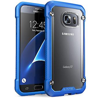Galaxy S8 Plus Case, SUPCASE Unicorn Beetle Series Premium Hybrid Protective Clear Case-Frost/Blue