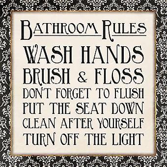 L'or noir bain règles Poster Print par Jace Grey