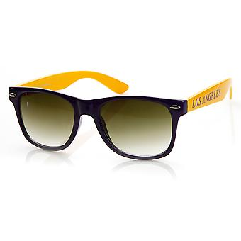 Team Sports Basketball City Two-Tone Horn Rimmed Sunglasses