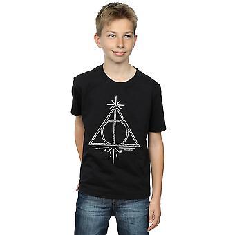 Chłopcy Harry Potter insygnia śmierci Symbol T-Shirt
