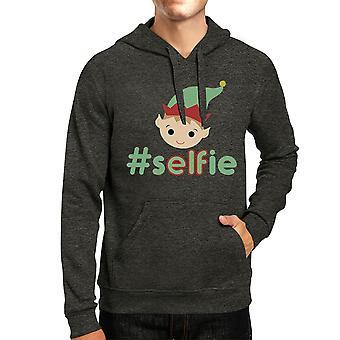 Prezenty świąteczne pulower hashtag Selfie Elf graficzny grafika Bluza z kapturem