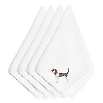 Grand Basset Griffon Vendeen brodert servietter sett med 4