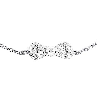Bow - 925 Sterling Silver Chain Bracelets - W19260X