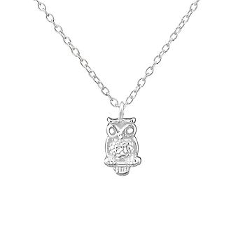 Owl - 925 Sterling Silver Necklaces - W30228X