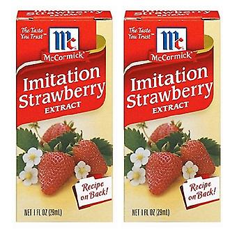 McCormick Imitation Strawberry Extract 2 Bottle Pack