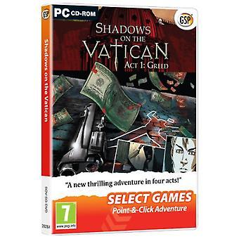 Välj spel skuggor på Vatikanen-Act 1 girighet (PC DVD)-ny