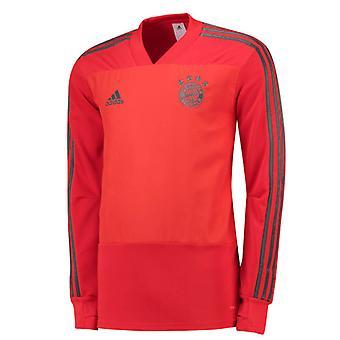 2018-2019 Bayern München Adidas træningstrøje (rød)