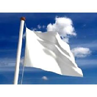 Gewone witte vlag 5 ft x 3 ft (100% Polyester) met oogjes voor verkeerd-om