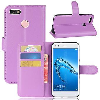Prime de poche portefeuille violet pour Huawei Y6 Pro 2017 / Profitez 7 manchon de protection étui nouveau