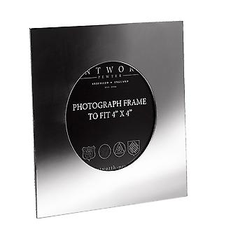 """Small Plain Square 4""""X4"""" Pewter Picture Frame"""