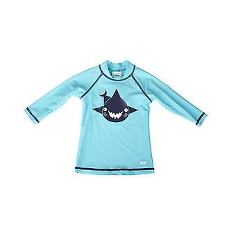Banz Kids UV Long Sleeved Rash Top - Shark - Turq
