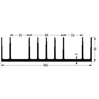 Fischer Elektronik SK 53 75 SA Heat sink 0.85 K/W (L x W x H) 75 x 180 x 48 mm