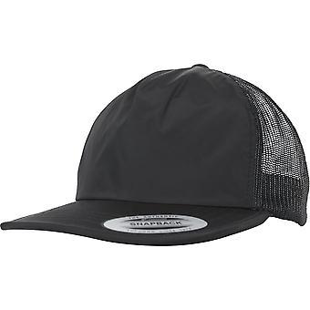 Flexfit trucker ongestructureerde Snapback Cap - zwart