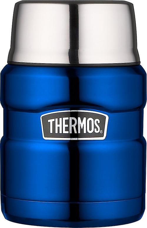 Thermos King Flask Vacuum Insulated Food Flask 470ml/710ml Metallic Blue