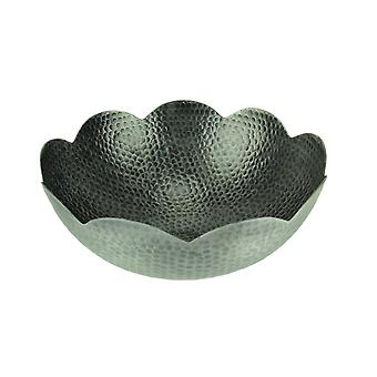 Hammered Aluminum Centerpiece Bowl Silver Finish