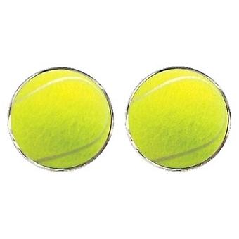 Bassin and Brown Tennis Ball Cufflinks - Yellow