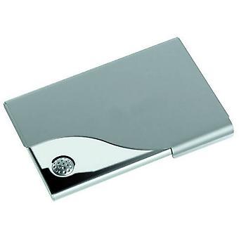 David Van Hagen Nickel Plated Golf Business Card Holder - Silver