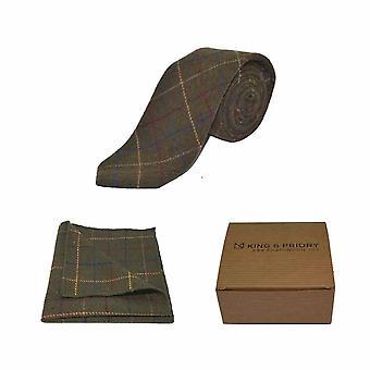 Wyboru Regency zielony męskie Tie & placu kieszeni zestaw | Boxed