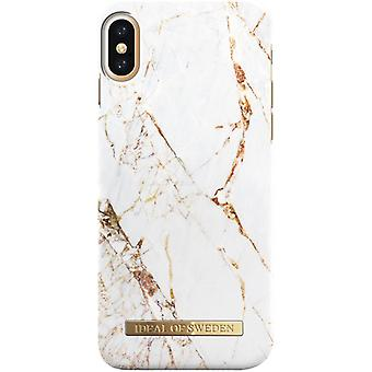 iDeal Of Sweden iPhone X/XS Marmor skal - Carrara Gold