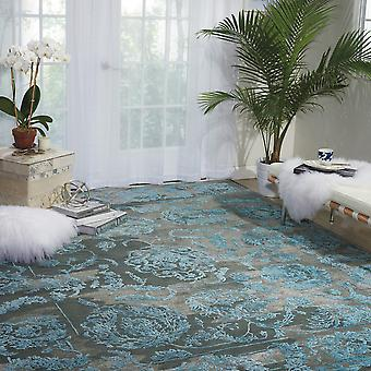 Opaline Rugs Opa12 By Nourison In Charcoal And Blue