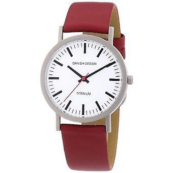 Dansk Design 3316322-mænds armbåndsur, læder, farve: rød