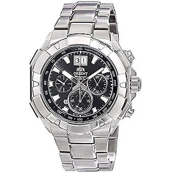 Orient Chronograph quartz men's Watch with stainless steel band FTV00003B0
