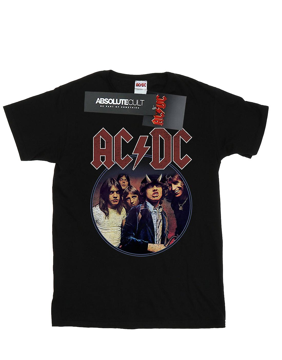 AC/DC Women's Highway To Hell Circle Boyfriend Fit T-Shirt