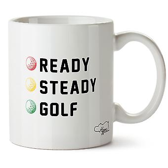 Hippowarehouse Ready Steady Golf Printed Mug Cup Ceramic 10oz