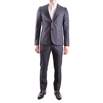 Manuel Ritz Ezbc128011 Men's Grey Wool Suit