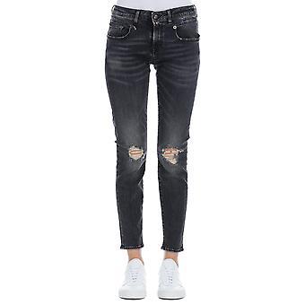 R13 R13w0086697 Women's Black Cotton Jeans