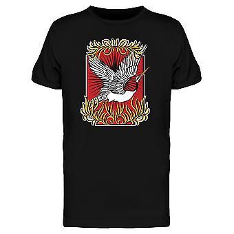 Steigenden Kran T-Shirt Herren-Bild von Shutterstock