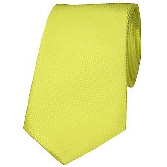 David Van Hagen Herringbone zijden stropdas - Canary Yellow