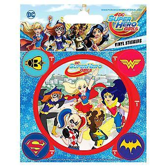 DC Super Hero Girls vinilos pegatinas