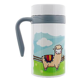 Grindstore Happy Llamas tazza da viaggio termica con manico